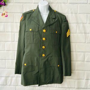 VINTAGE  US Army Official Military Jacket Size 36S